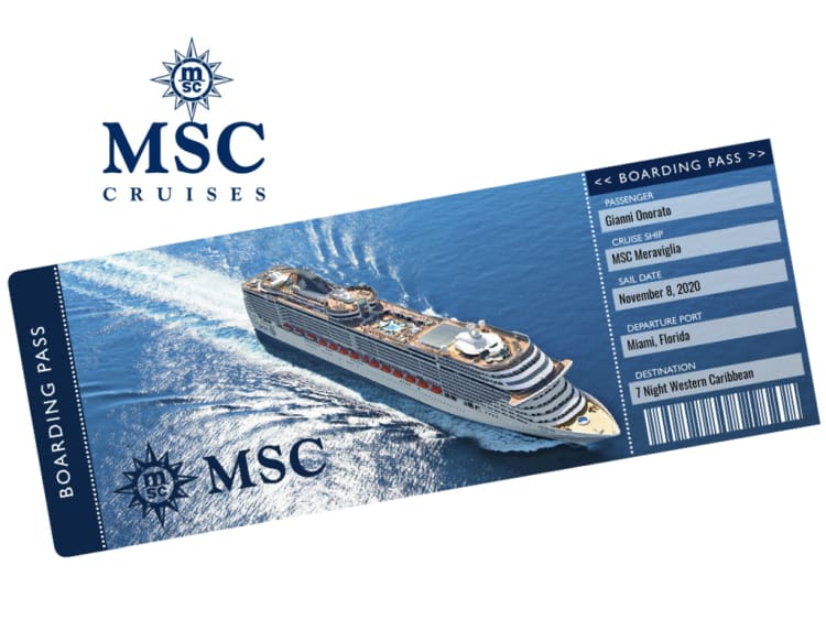 MSC Cruises Cruise Ticket Template
