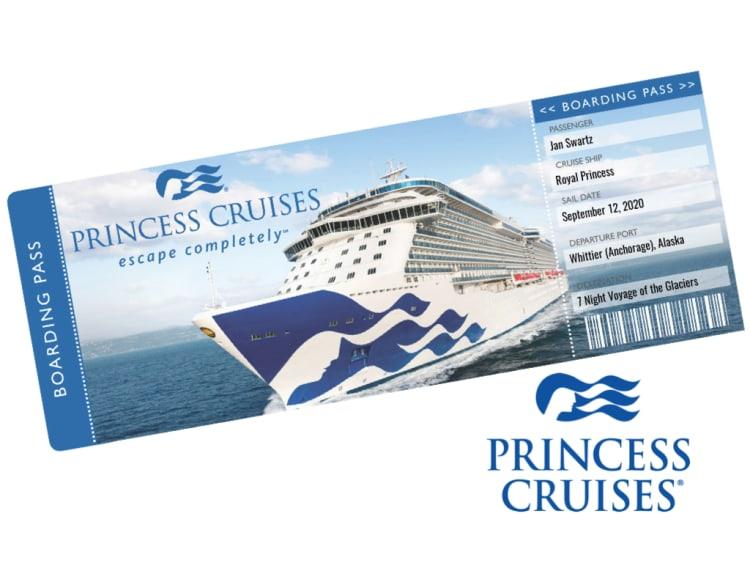 Princess Cruises Cruise Ticket Template