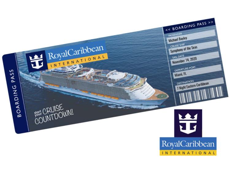 Royal Caribbean Cruise Ticket Template