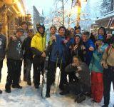 Ski & Snowboard instructor interns enjoying the snow at Northstar USA