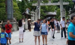 With my third host sister in Fukuoka