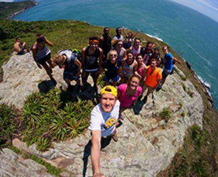 USAC Brazilian students enjoying the beautiful scenery in the beach.