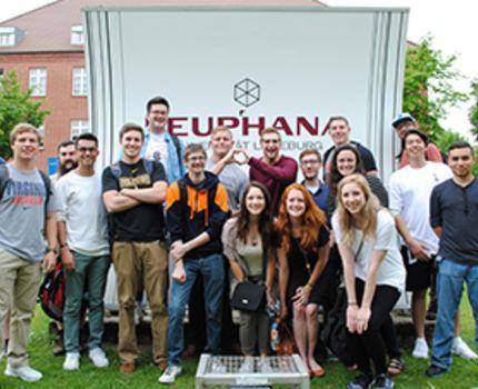 USAC students in Leuphana University of Lüneburg, Germany.