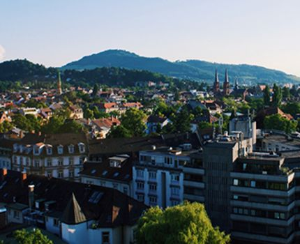 The city of view of Germany during sunrise.