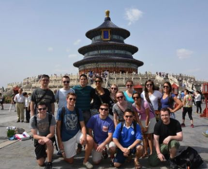 International students in the Temple of Heaven in China