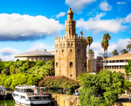 CIEE visit to Torre del Oro by the Guadalquivir River in Seville