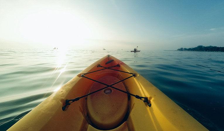 Kayak in the water