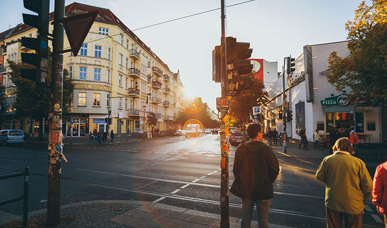 Street shot of berlin