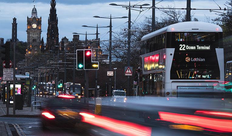 Edinburgh Balmoral and traffic picture