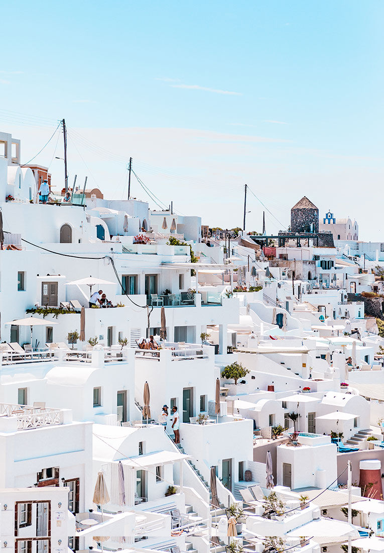 All white buildings in Greece