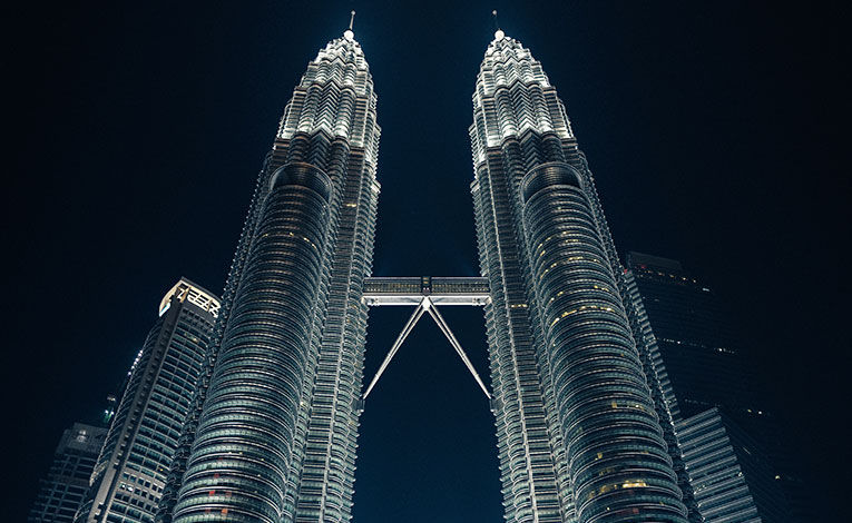 Night scene in the city of Kuala Lumpur