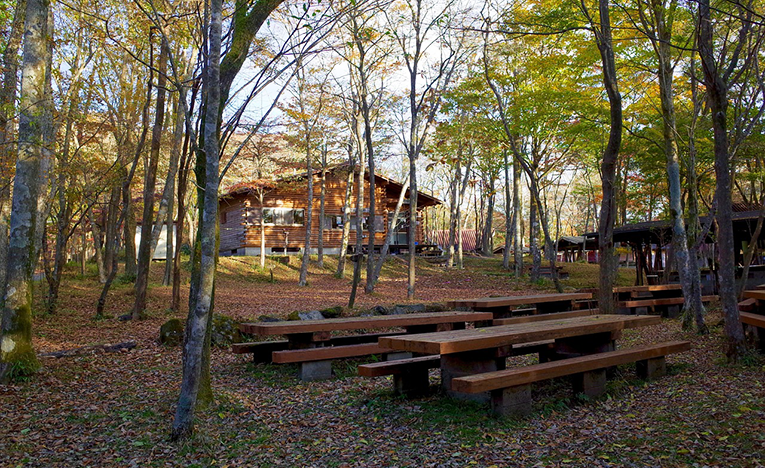 Camp site hang-out area