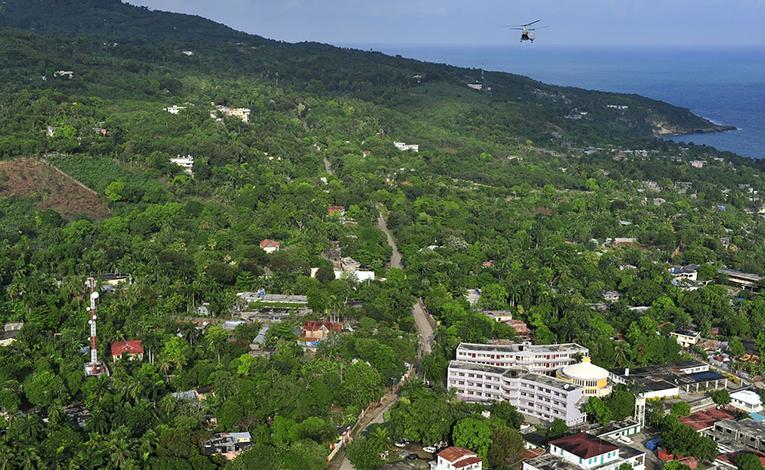 Aerial shot of Port-Au-Prince, Haiti