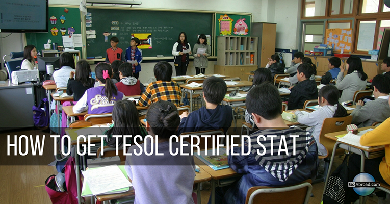 how to get tesol certification stat
