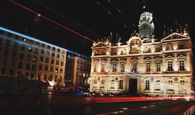 Place des Terreaux at night, Lyon, France