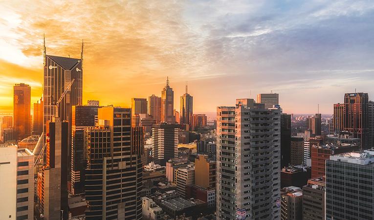 Cityscape of Melbourne, Australia