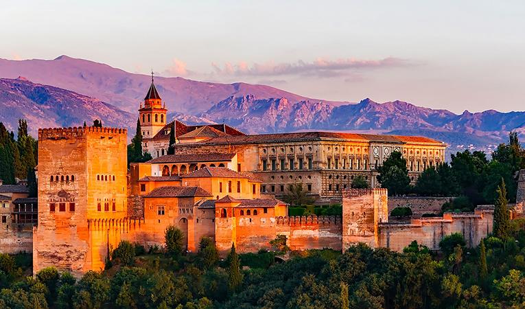Charles V Castle in Granada, Spain