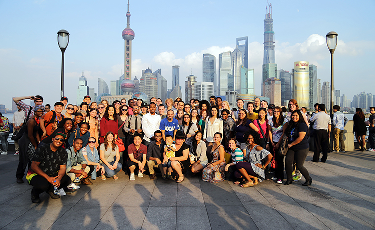 A group of foreign teachers in China
