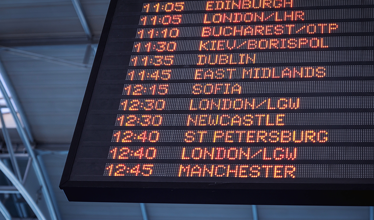 flight board times