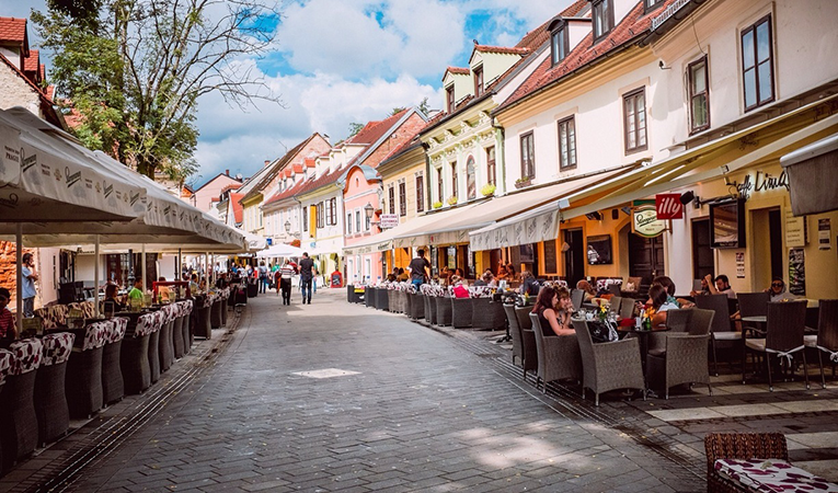 5 croatia adventures youll love in zagreb goabroad street filled with cafes in zagreb croatia altavistaventures Images