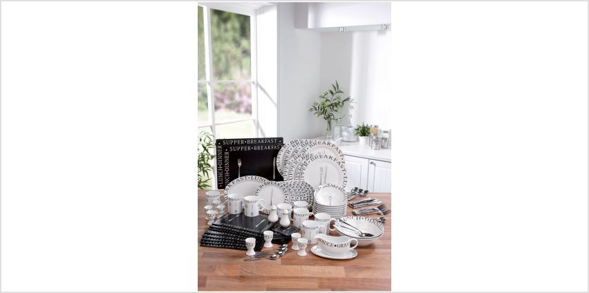 100-Piece Black/White Vintage Script Combination Set from Studio