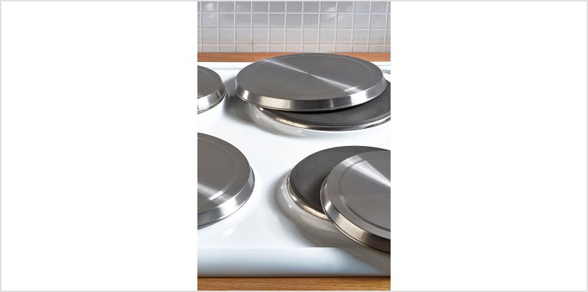 Set of 4 Hob Covers - Stainless Steel from Studio