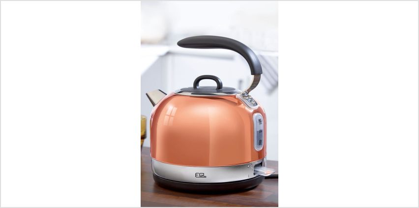 Copper Finish Electric Dome Kettle from Studio