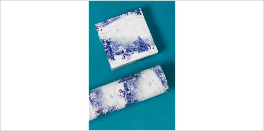 Winter Scene Wrapping Paper from Studio