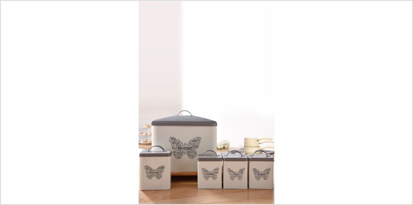 5-Piece Butterfly Canister Set from Studio