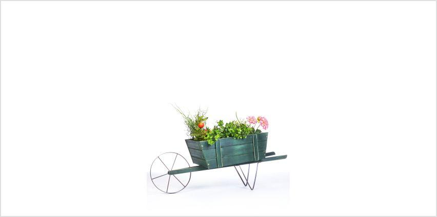 Wooden Wheelbarrow Planter from Studio
