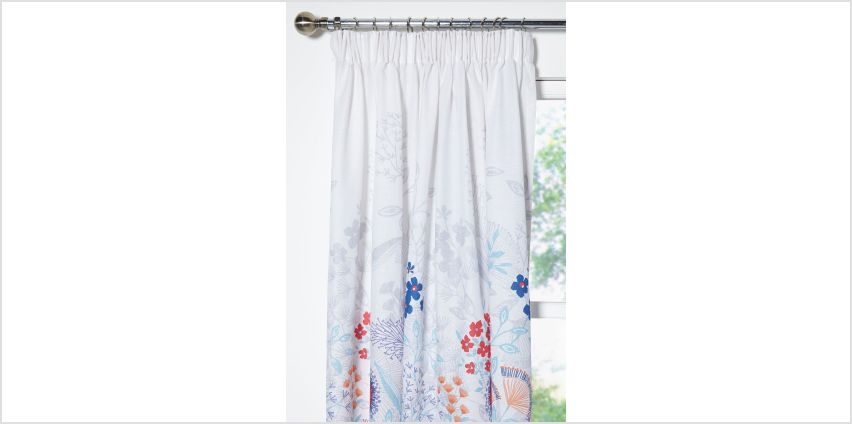 Claudine Unlined Pencil Pleat Curtains from Studio