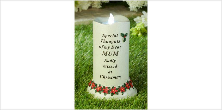 Christmas Memorial Candle Mum from Studio