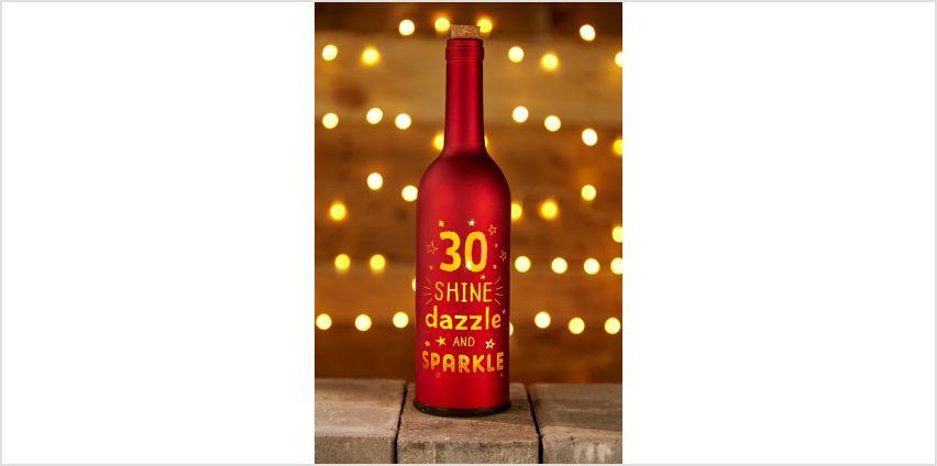Light Up Bottle 30th Birthday from Studio