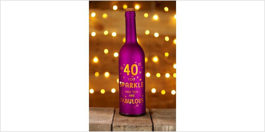 Light Up Bottle 40th Birthday from Studio