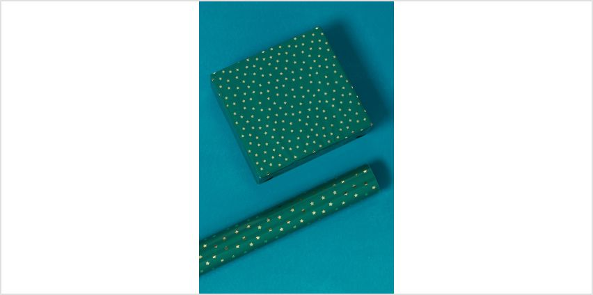 4m Gold Star Foil Roll Wrapping Paper from Studio
