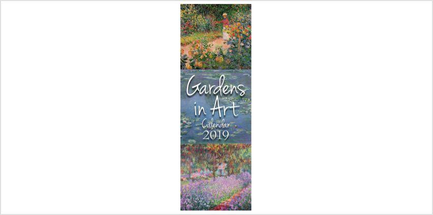 Slimline 2019 Gardens in Art Calendars from Studio