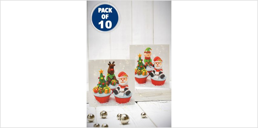 10 Christmas Cupcakes Cards from Studio