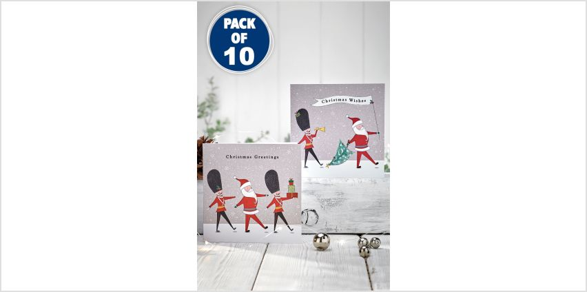10 Santa and Soldier Christmas Cards from Studio