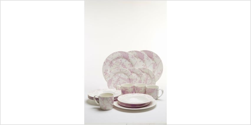 16-Piece Pink India Garden Dinner Set from Studio