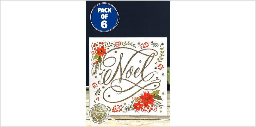 6 Handmade Noel Christmas Cards from Studio