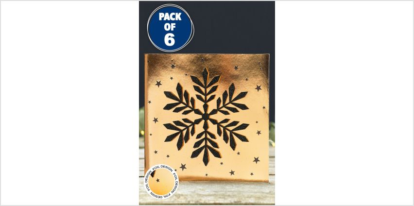 6 Handmade Snowflake Christmas Cards from Studio