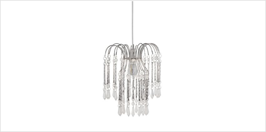 Chrome and Clear Easy Fit Acrylic Light Shade from Studio