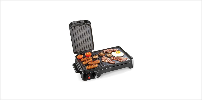 2-in-1 Black Food Grill from Studio