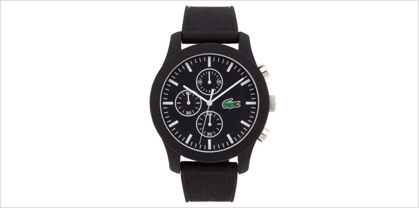 Lacoste 12.12 Black Silicone Strap Watch from Studio