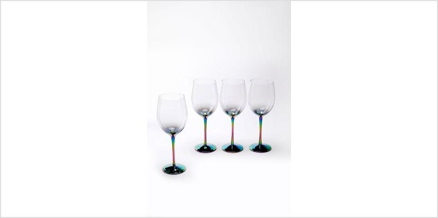 Set of 4 Iridescent Wine Glasses from Studio
