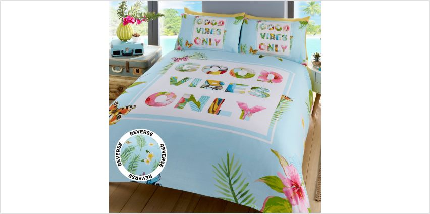 Good Vibes Only Double Duvet Set from Studio