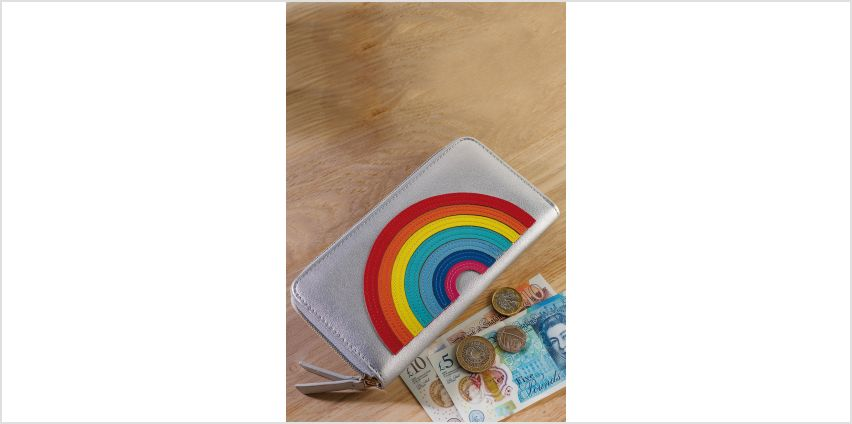 Rainbow Zip Around Purse from Studio
