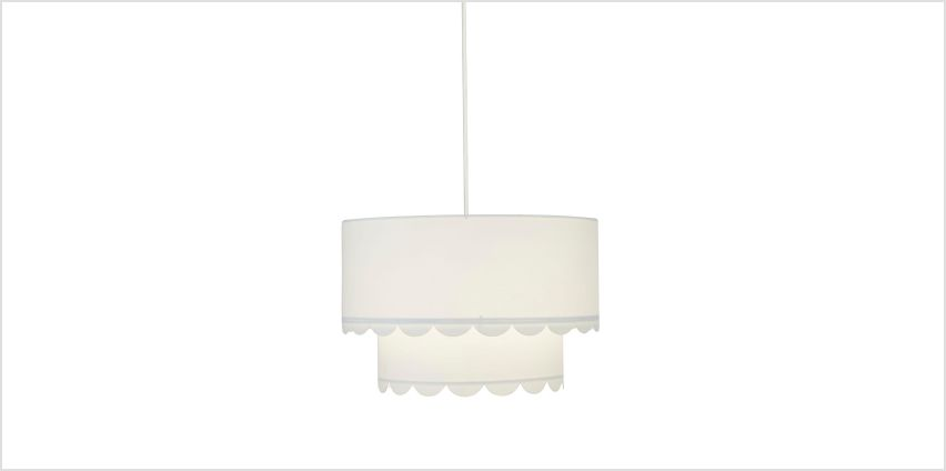 Double Layer White Easy Fit Light Shade from Studio