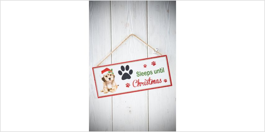 Christmas Dog Sign from Studio