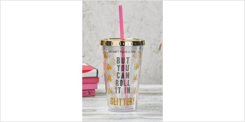 Glitter Poo Straw Cup from Studio